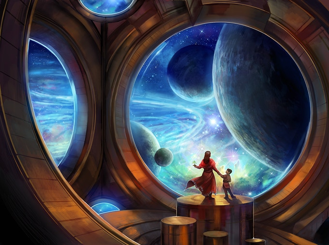 """All the Worlds to See"" by Julie Dillon (2015)"