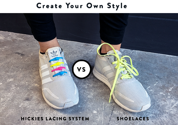 Blend in or stand out. With HICKIES lacing system you have the option to use many different colors within the same shoe to create your own signature look.