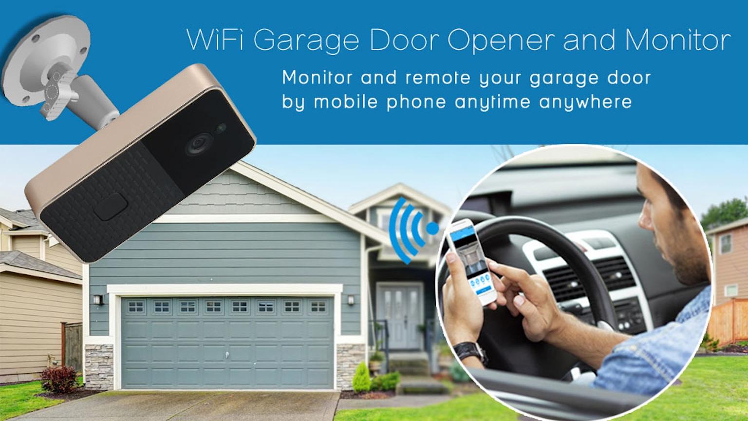 Wifi Garage Door Opener And Monitor By Andy Kickstarter