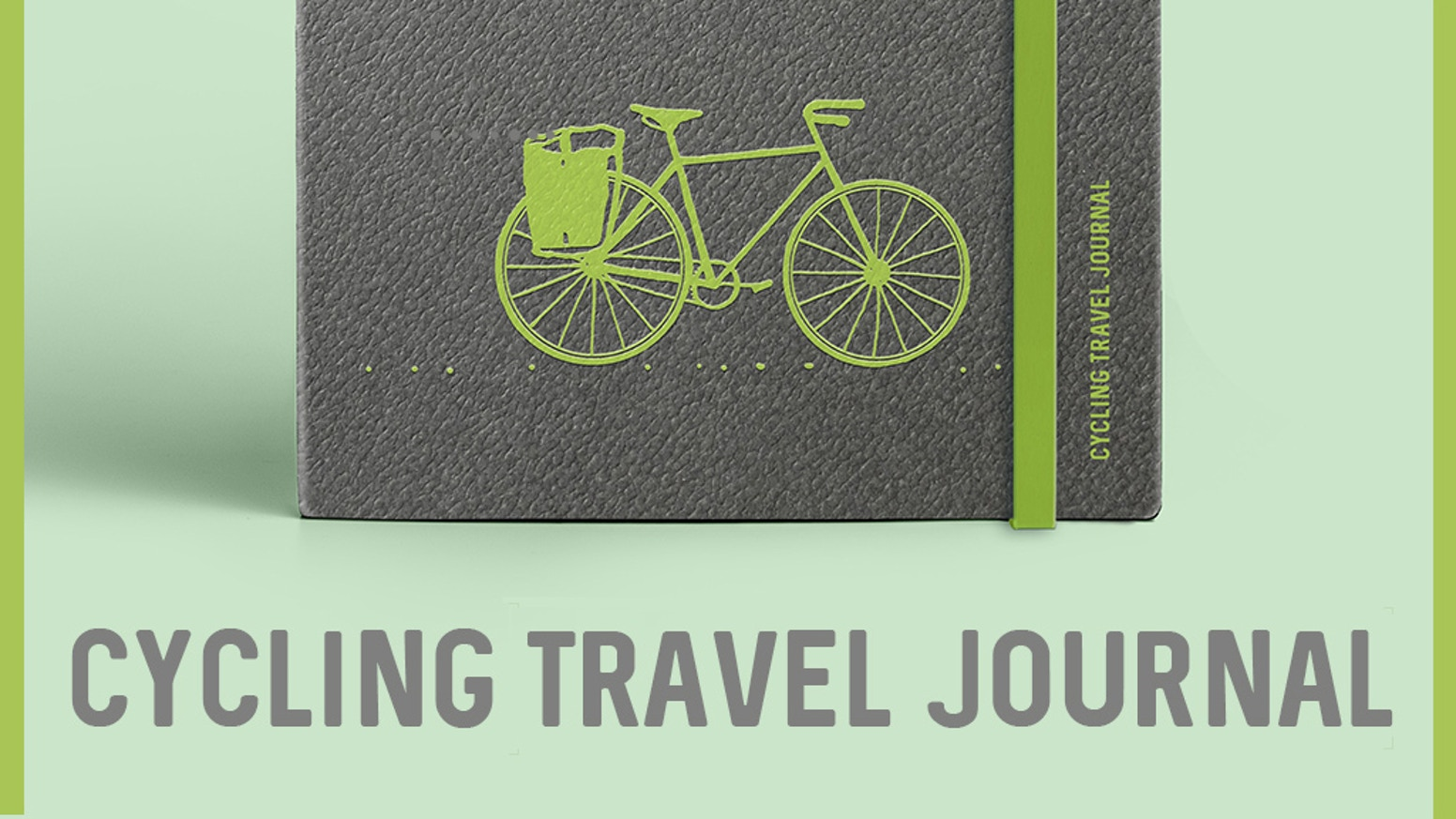 An eco-friendly cycling travel journal designed to help you capture the details of your adventure