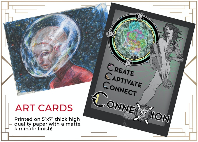 MINIMUM $25 DONATION for Art Cards and ALL PRIZE TIERS BELOW IT! Illustrated by Aaron Parks!
