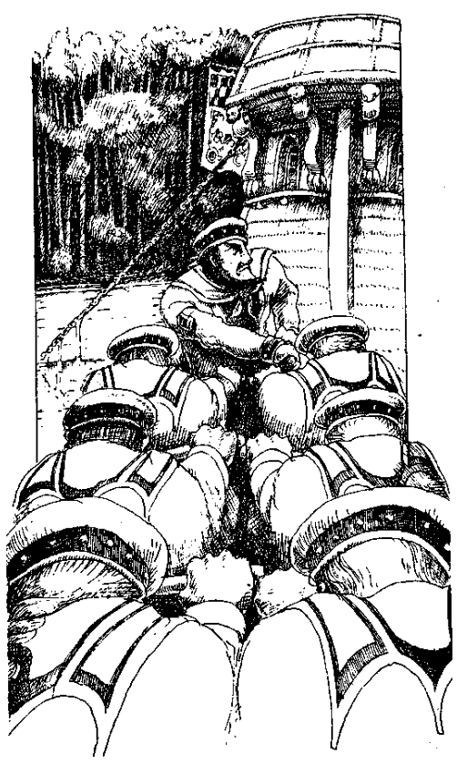 Original 1984 interior illustration #4 by Leo Hartas - to appear in colour in this Collector's Edition