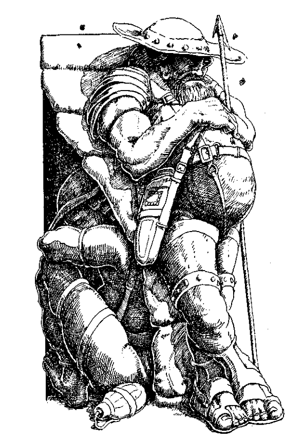 Original 1984 interior illustration #7 by Leo Hartas - to appear in colour in this Collector's Edition
