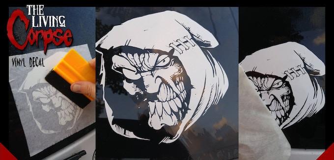 Living Corpse window stickers
