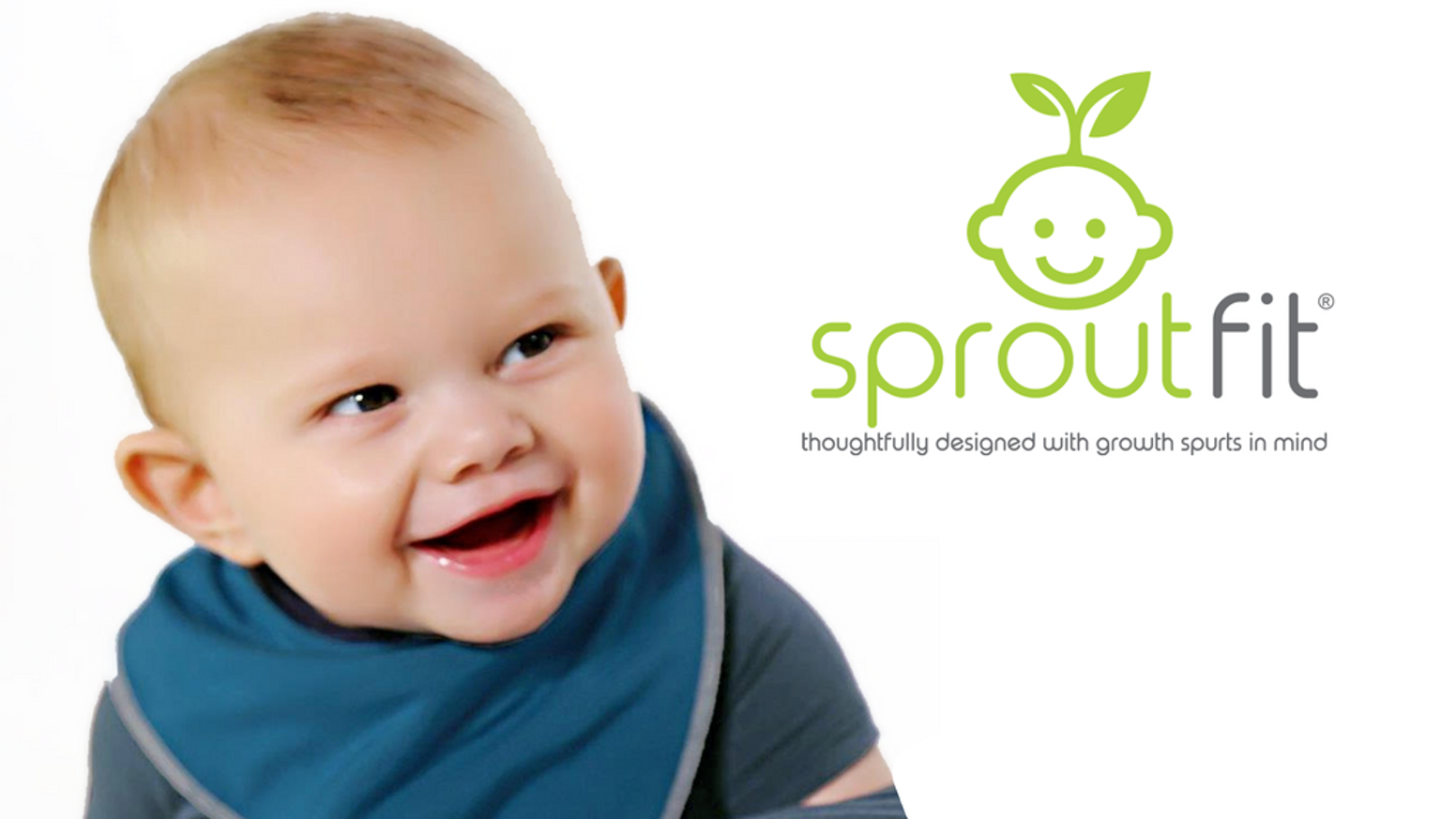 Babies outgrow clothing fast. Thoughtfully designed with growth spurts in mind, SproutFit grows with baby and is made in the USA.