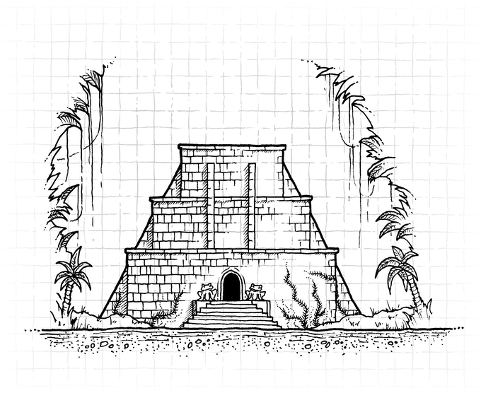 Temple Exterior by Glynn Seal