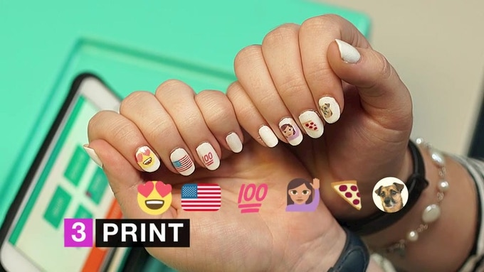 Print All Your Favorite Emojis On Nails Thanks To The Open Source Emojione Check Out This Cool Cheatsheet As Well See How Their Compare