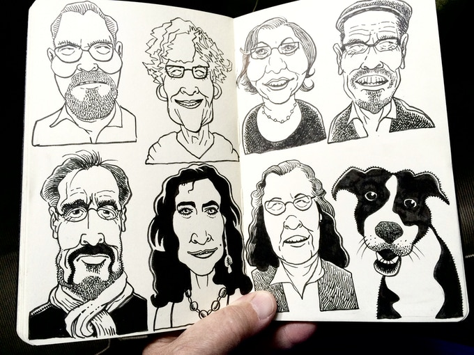 My sketchbooks are full of faces.