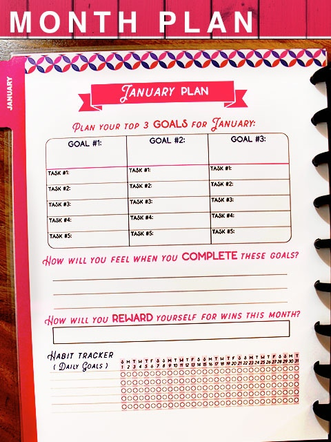 Set your monthly goals.