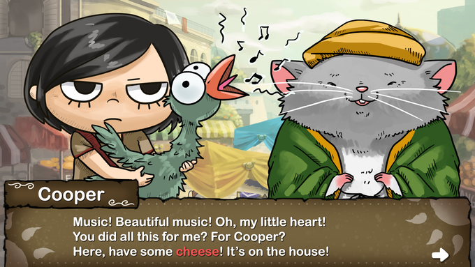 Fix Cooper's depression with a musically talented bird!
