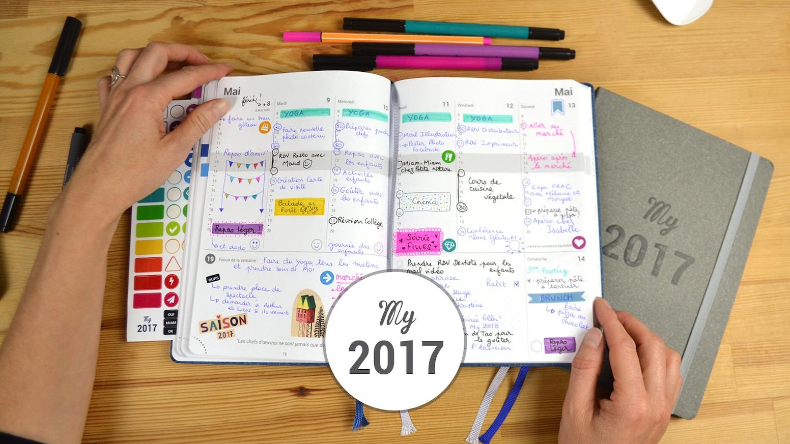 Journal de bord pour noter ses rendez-vous, définir ses objectifs, noter ses idées, lister, dessiner, positiver...et organiser SA VIE !