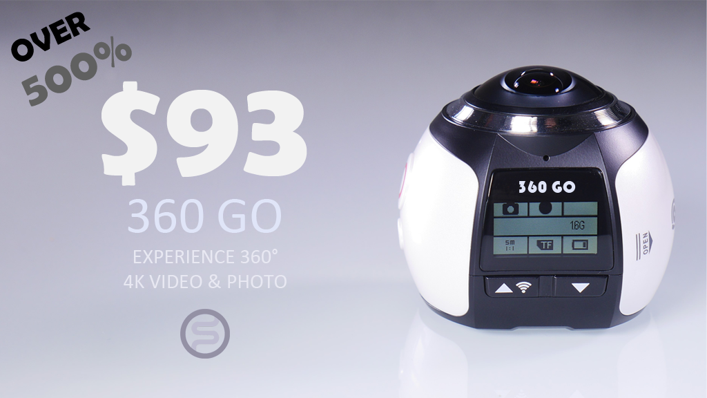 360 GO. The most Affortable 360˚ 4K Action Camera. project video thumbnail