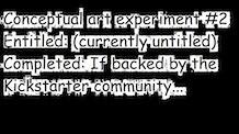 Conceptual art experiment #2