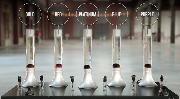 There's 5 amazing colors to chose from: blue, gold, platinum, red, and purple.