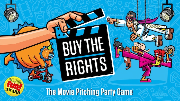 Buy the Rights is the fast-paced, fun-filled party game for the movie lover in us all! Pick your cards & pitch your movie!