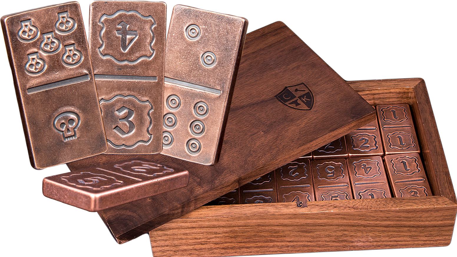 Unique design and individually handcrafted tiles makes this the most incredible domino set you'll find! Made to last a lifetime!