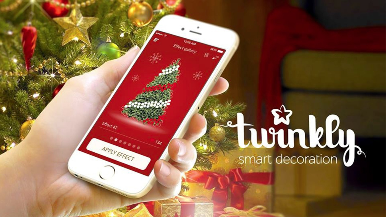 twinkly is a christmas tree light string controlled via smartphone internet of things meets extraordinary light effects