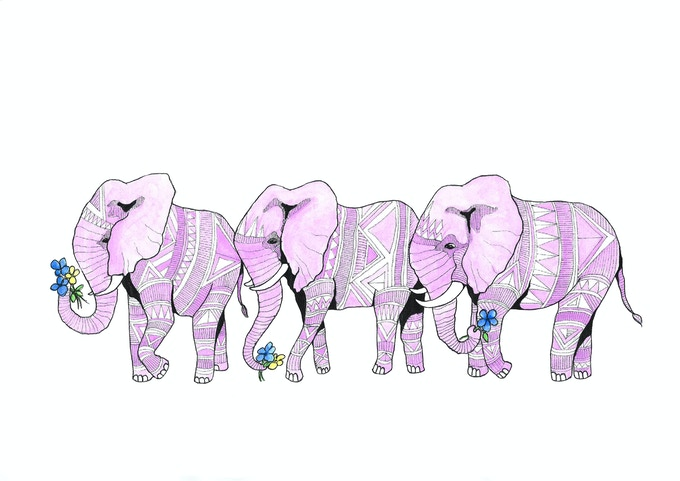 A memory of Elephants, from the book A Flamboyance of Flamingos