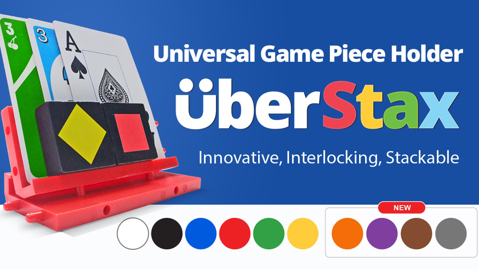 Match your player colors and more stacking fun with #UberStax NEW COLORS for a better organized and easier to use gaming table!