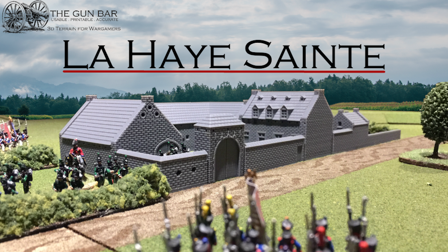 La Haye Sainte - 3D printable terrain for Waterloo by Anthony Selley