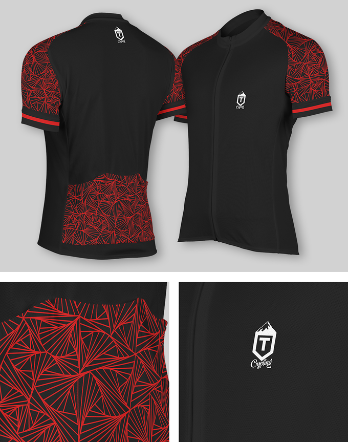 Black and Red Professional Jersey