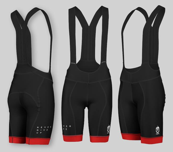 Black and Red Professional Bib Shorts