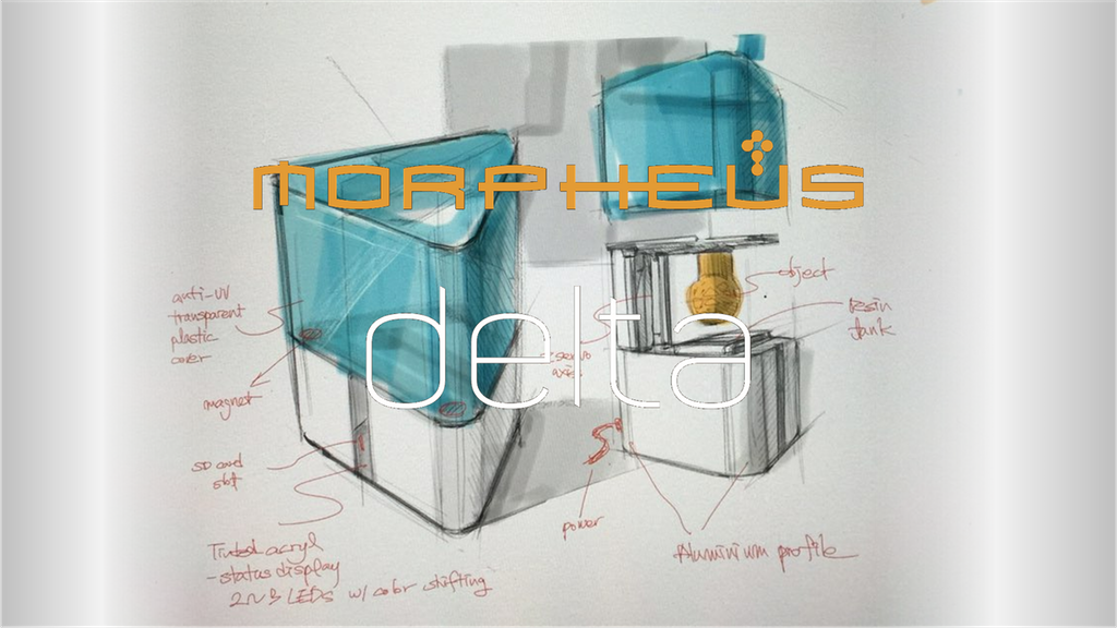 MORPHEUS delta; Fine Quality Resin 3D Printer at FDM price. project video thumbnail