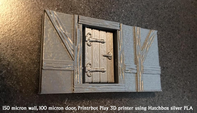 "Sample wall (1.75"" tall) printed on a Printrbot Play ($399) 3D printer."