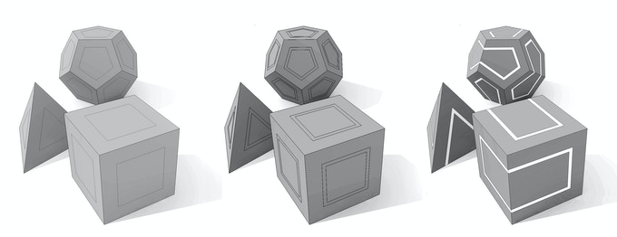 The concept design of the Polyhedral AKO Dice.