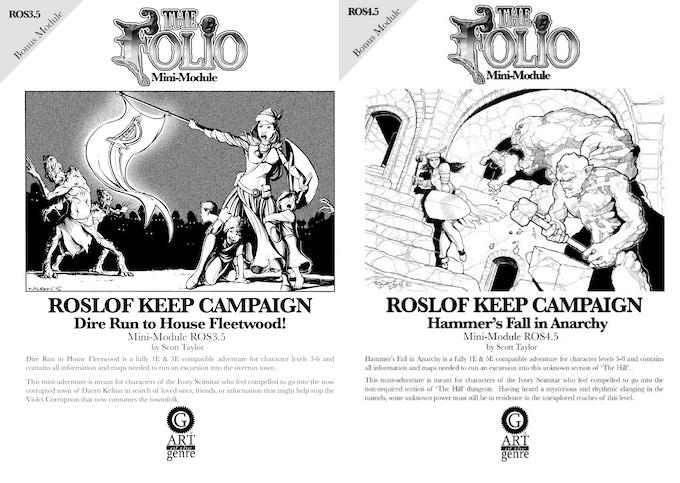 Sample Mini-Adventure Covers