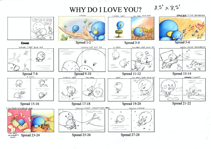 WHY DO I LOVE YOU? storyboard
