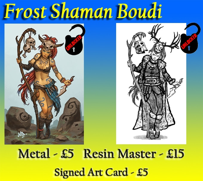 Pin Up Shamanic Boudi, on the left, has already been unlocked!
