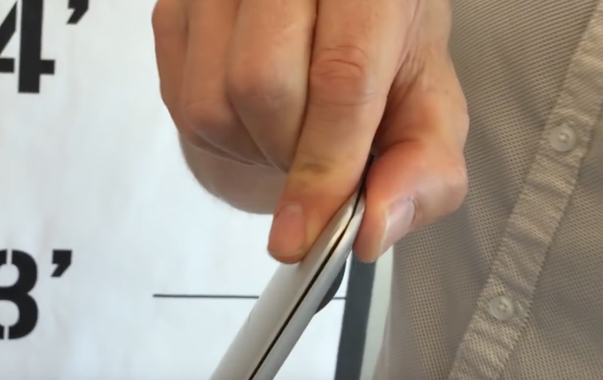 MacBook Air 11 - Dented after a 1-foot drop