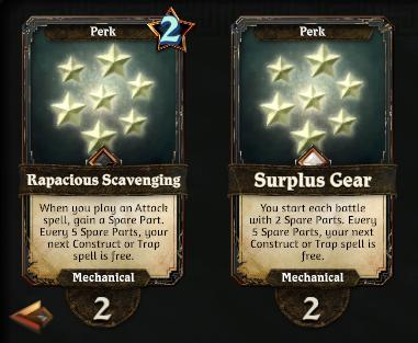 Mechanical Perks