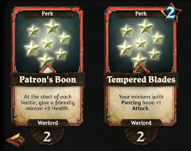 Warlord Perks