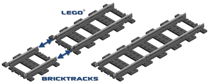 BrickTracks are fully compatible with LEGO® components
