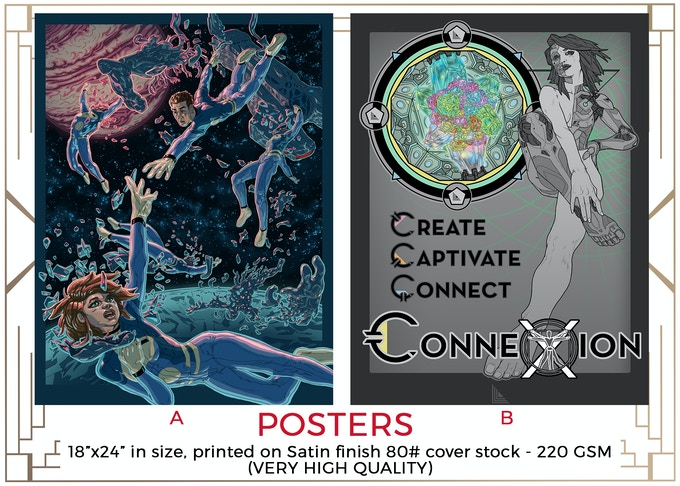 MINIMUM $120 DONATION for x1 Poster and other prize tiers below it!  You can pick either Poster A or B! Illustrated by Aaron Parks!