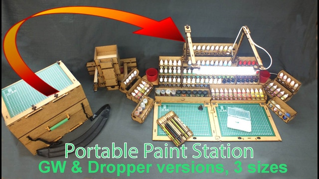 Portable Paint Station Take Paints Minis Amp Tools With