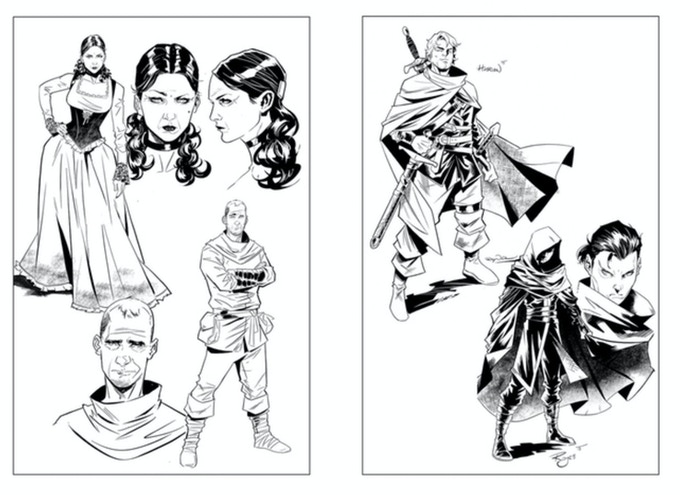 Several characters to choose from. Each print will be signed by Max Raynor.