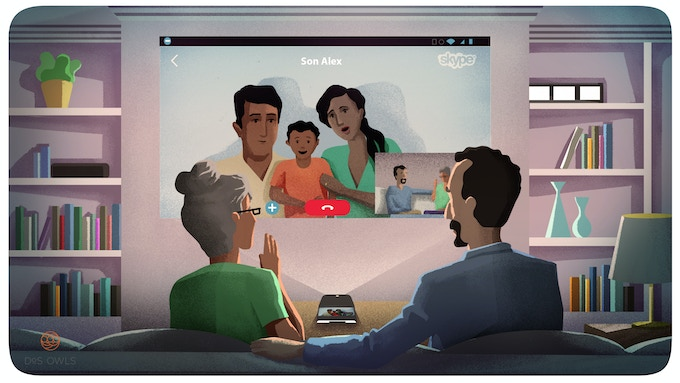 Utilize video calling apps like Skype to talk to family and friends