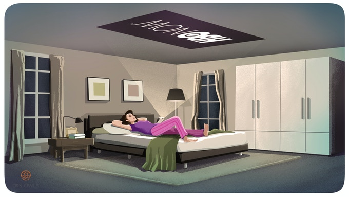 Watch movies on the ceiling or any surface