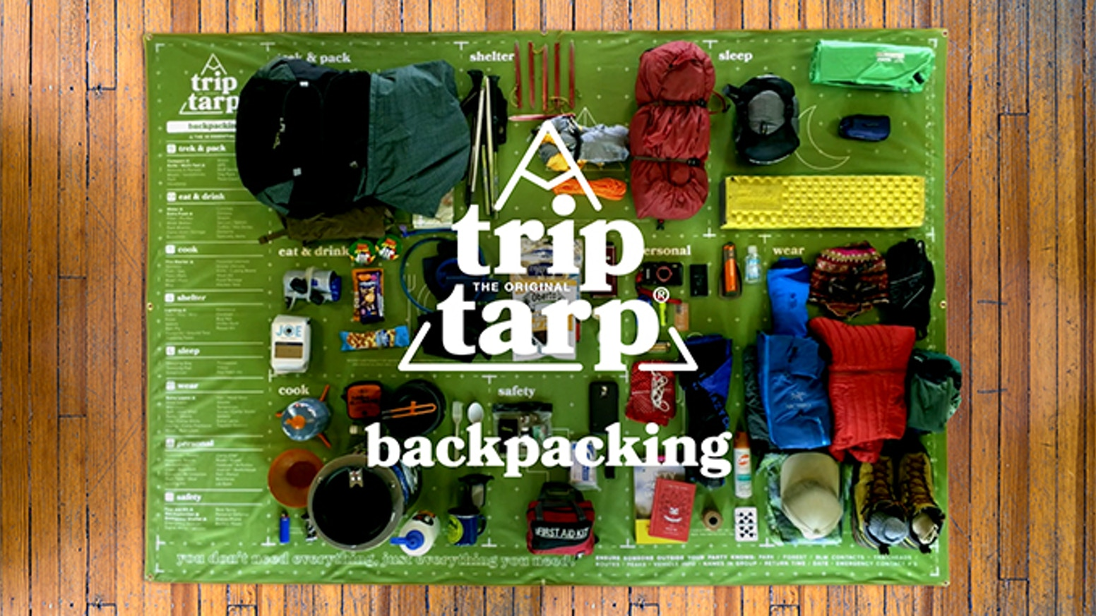 Pack & plan backpacking trips with the most comprehensive, organized way to sort gear and prepare for the backcountry.