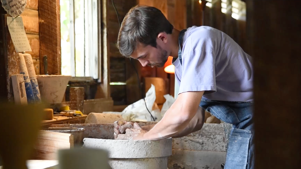 Joe Sink Pottery - Anagama Wood Kiln Build project video thumbnail