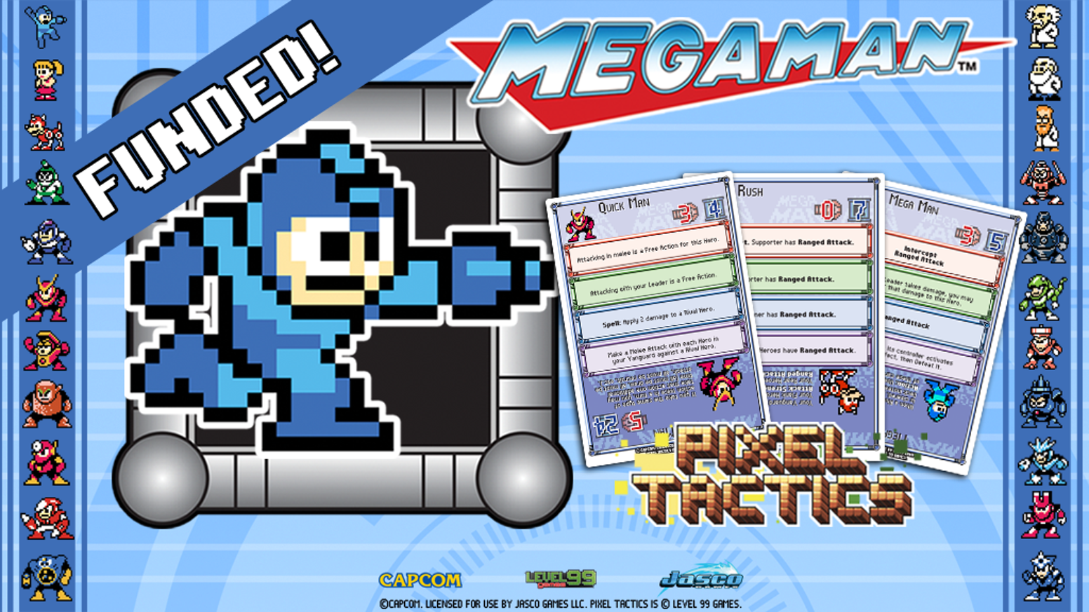 Mega Man blasts his way into Pixel Tactics! Experience this SRPG style, pocket-sized card game featuring 50+ Classic Characters!