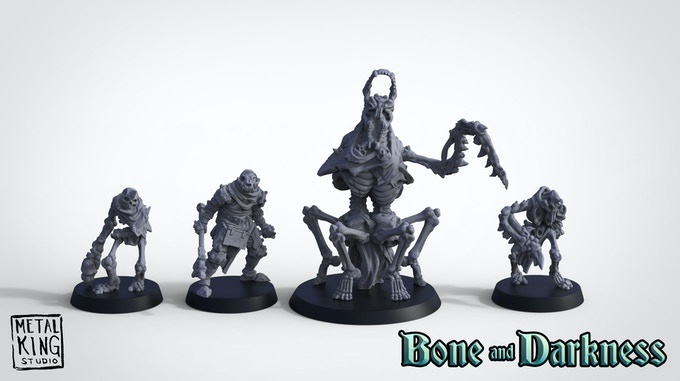 3D renders of the Bone and Darkness Faction Pack