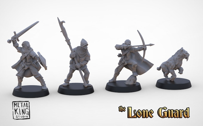 3D renders of The Lone Guard Faction Pack.