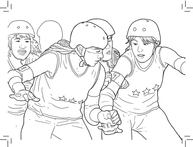 Color Jam Roller Derby Coloring Book By Margot Atwell Kickstarter