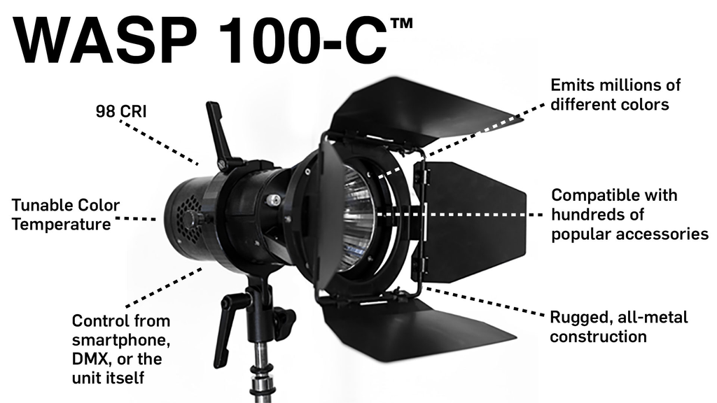 WASP 100-C: The next generation of production lighting! project video thumbnail