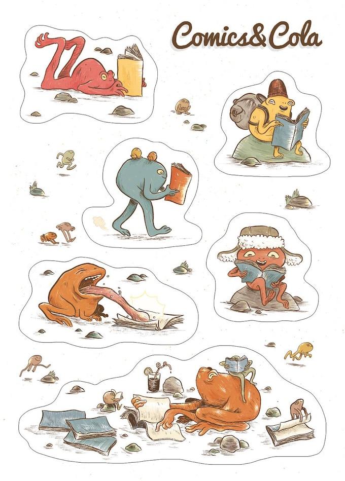 Sticker sheet designed by Isaac Lenkiewicz