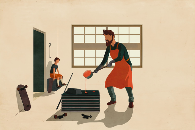 The boy and the smelter / Il ragazzo e il fonditore • Giordano Poloni